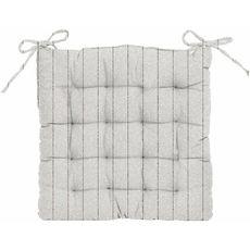 Galette de chaise matelassée fantaisie en coton motif lignes