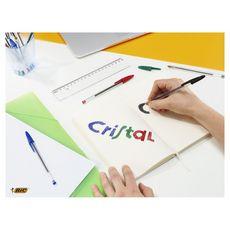 BIC  Lot de 4 stylos bille pointe moyenne vert CRISTAL ORIGINAL