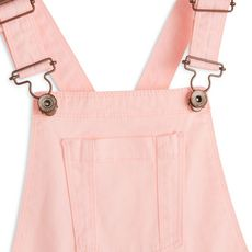 IN EXTENSO Salopette short twill fille (Rose corail)
