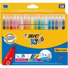 BIC Feutres de coloriage pointe moyenne KID COULEUR (lot de 36)