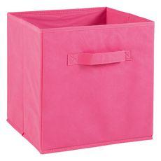 Tiroir boîte en tissu et carton BRIK, 12 coloris (Rose)