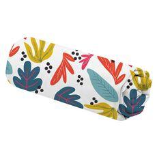 Drap housse fantaisie en microfibre motif feuillage YANN (Multicolore)