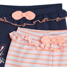 IN EXTENSO Lot de 2 shorts coton bébé fille (Blanc)