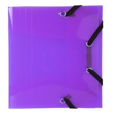 EXACOMPTA  Chemise polypropylène à élastiques violet translucide