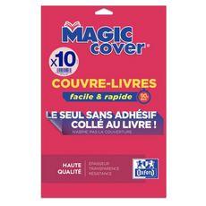 ELBA Lot de 5+5 couvres-livres Magic Cover Cristal