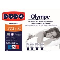 DODO COUETTE chaude DODO toucher duvet OLYMPE (Blanc)