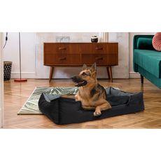 Idomya E. Coussin panier pour chien 120 x 190 cm noir et gris