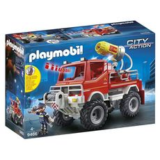 PLAYMOBIL 9466 - City Action - 4x4 de pompier avec lance-eau