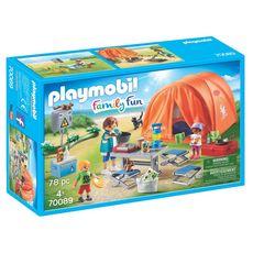 PLAYMOBIL 70089 - Family Fun  - Tente et campeurs