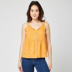 IN EXTENSO Top jaune fleuris femme (Jaune)