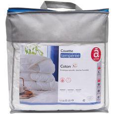 ACTUEL Couette tempérée unie en coton 200 g/m²