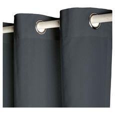 TODAY Rideau à oeillets isolant double face en polyester 140x240 cm (Anthracite)