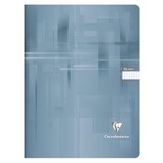 CLAIREFONTAINE Cahier piqué 24x32cm 96 pages petits carreaux 5x5 gris