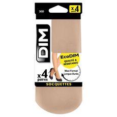 DIM Socquettes ecodim beiges 30D taille 35/41 x4