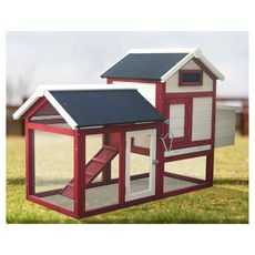 Habita Poulailler standard bi-corps couvert / 0,94 m2 / 2-3 poules / toit bitumé 2 pentes