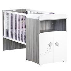 BABY PRICE Lit bébé combiné 60 x120 cm évolutif en 90x190 cm PILOU