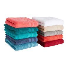 ACTUEL Lot de 2 gants de toilette uni en coton 450 g/m²