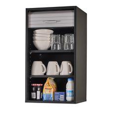 Rangement de cuisine à rideau coloris noir L40 cm - COOKING