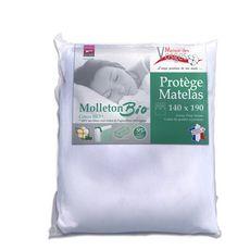 Maison des Vosges Protège matelas absorbant BIO molleton LA BRESSE (Blanc)