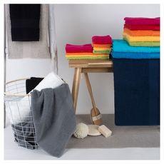 Serviette de toilette unie en coton 400 gr/m² ELISA