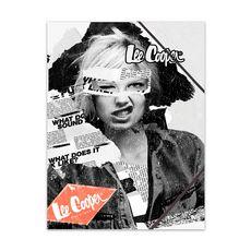 Chemise cartonnée à élastiques 3 rabats Lee Cooper 24x32cm newspaper