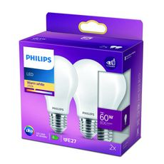 PHILIPS Ampoule LED E27 classique 40W - Blanc chaud dépolie