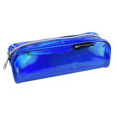 EXACOMPTA Trousse rectangle bleue effet métalisée