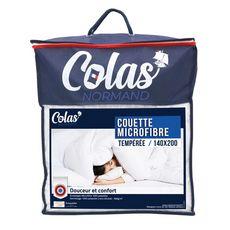 COLAS NORMAND Couette tempérée en polyester 300 g/m² (Blanc)