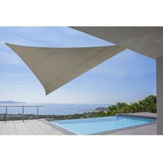 Voile ombrage triangulaire 5x5x5m taupe SHADOW 2