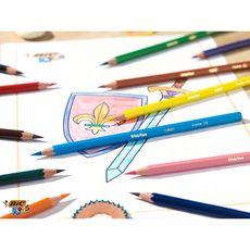 BIC Boite en métal de 18 crayons de couleur Kids Evolution