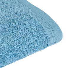 ACTUEL Lot de 2 gants de toilette unis en coton bouclé 360 gr/m2 (Bleu)