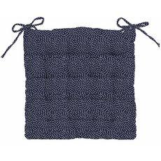 Galette de chaise matelassée fantaisie en coton motif pois