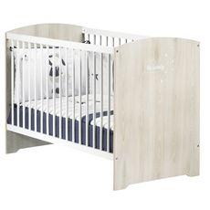 BABY PRICE Lit bébé 120x60 cm  HAPPY, Hêtre cendré, sommier 3 positions