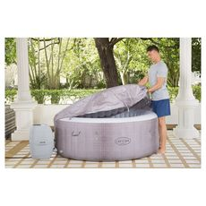 BESTWAY Spa gonflable rond 2-4 places Lay-Z-Spa® Cancun Airjet