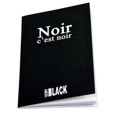 Carnet passeport Noir c'est noir 9x14cm
