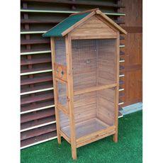 Habita Cage à oiseaux standard / 0,42 m2 / 3-4 oiseaux / toit bitumé