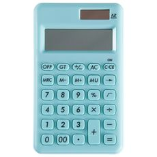 Calculatrice arithmétique affichage 10 chiffres bleu ciel