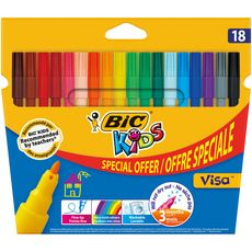 BIC Etui de 18 feutres de coloriage pointe fine VISA