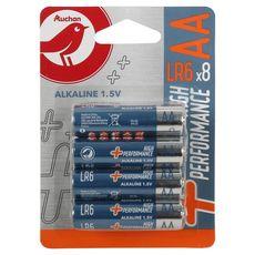 AUCHAN Pile alcaline high performance AA LR06 x8 x8