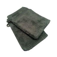 ACTUEL Lot de 2 gants de toilette unis en coton 500 g/m²