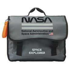 NASA Cartable 38 cm CP/CE1/CE2 gris NASA