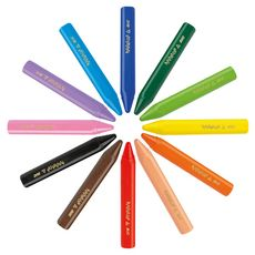 BIC Boite de 12 craies de coloriage Kids Plastidecor