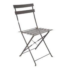 GARDENSTAR Chaise de jardin pliante acier gris anthracite POP