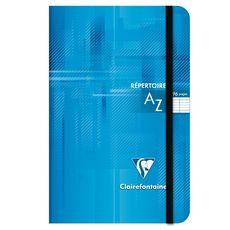 CLAIREFONTAINE Répertoire à élastique 11x17cm 96 pages grands carreaux Seyes bleu