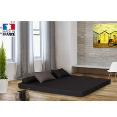 Chauffeuse banquette lit d'angle 2 places OSTO (Antracite / Taupe)