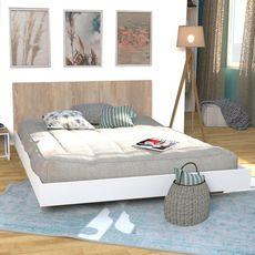 Lit 140x190cm avec tête de lit LAGOS
