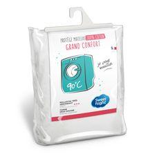 Sweetnight Protège matelas coton absorbant lavable à 90°c - Forme drap housse QUALITE PLUS (Blanc)