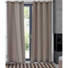 Rideau occultant thermique en polyester (Taupe)