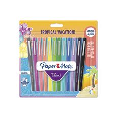 STABILO  Lot de 12 stylos feutres d'écriture Flair Original Tropical