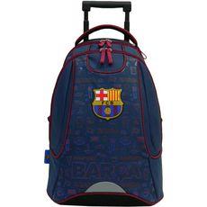 FC Barcelona Sac à dos à roulettes bleu FC BARCELONE